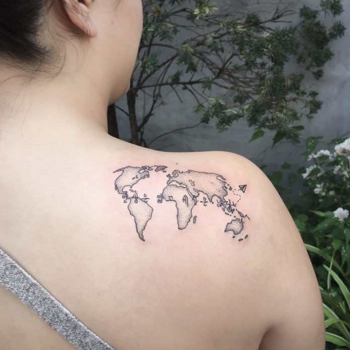 39 14-40 tatouages sur la carte du monde