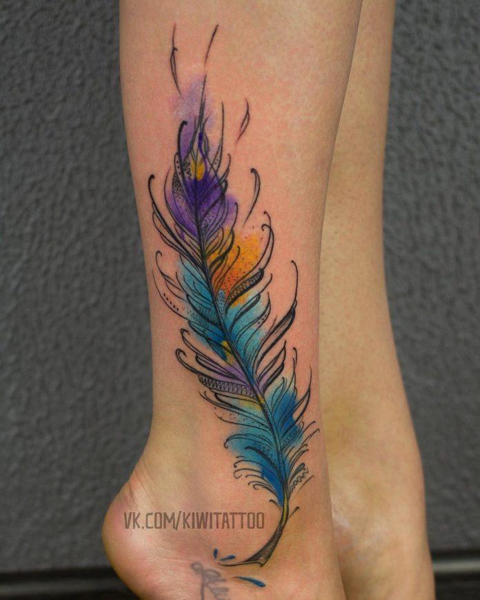 4 tatouages de plumes 10-40 pour femmes