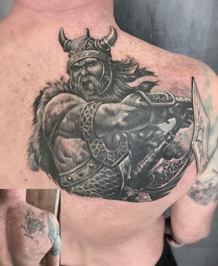 4 tatouages Viking 13-80 pour hommes