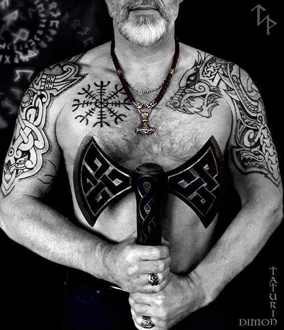 52 1-80 tatouages Viking pour hommes