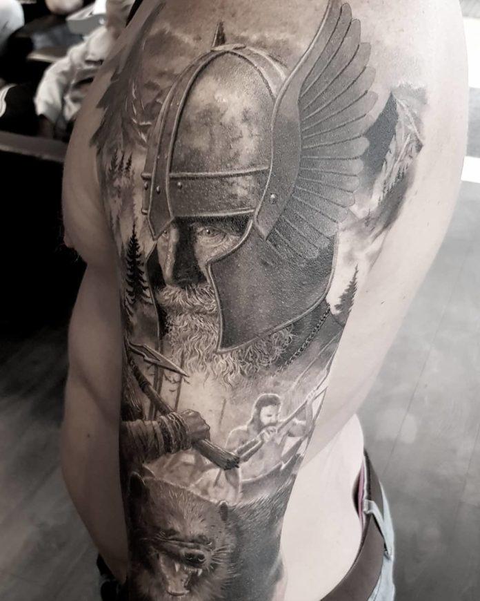 60 1 - 80 Tatouages Viking pour Homme