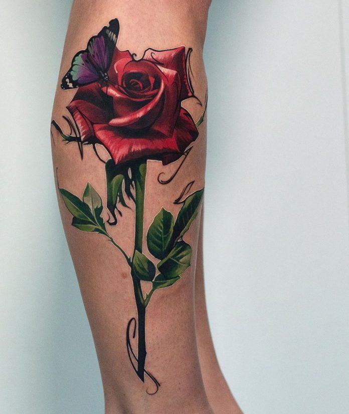 1-40 tatouages de mollet pour les femmes
