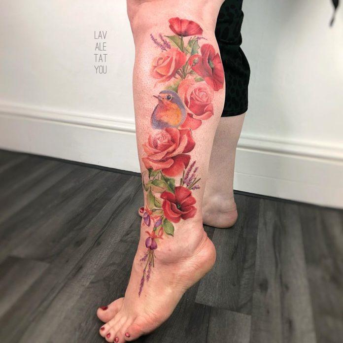 2-40 tatouages de mollet pour femmes