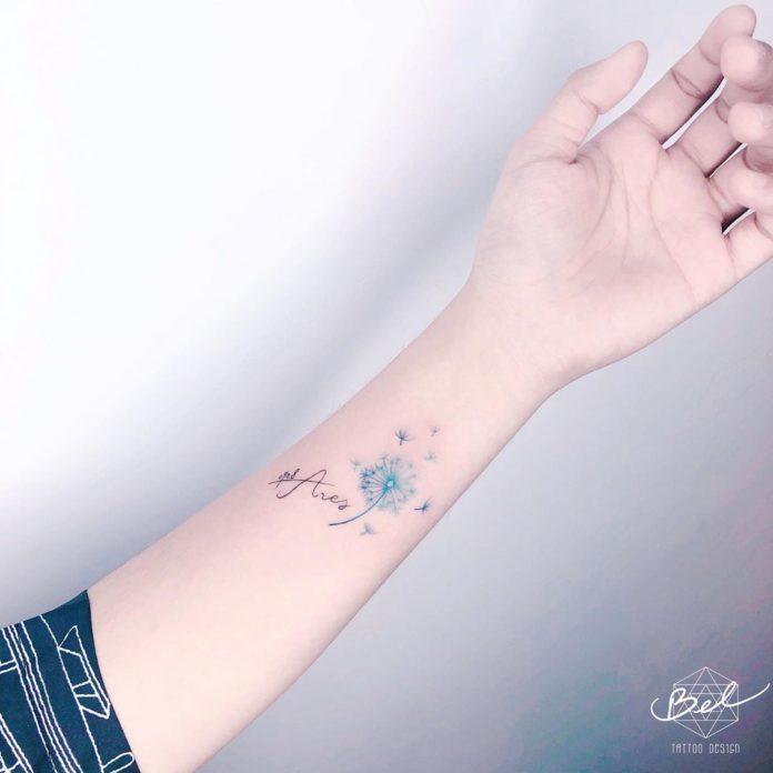 12 14-40 tatouages de pissenlit pour les femmes
