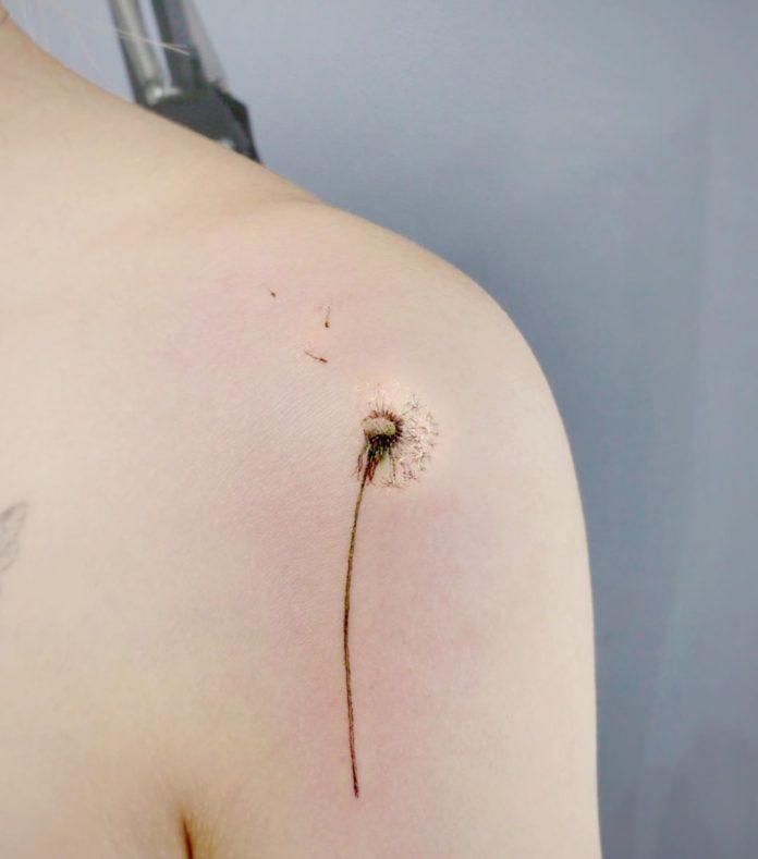 2 tatouages de pissenlit 17-40 pour les femmes