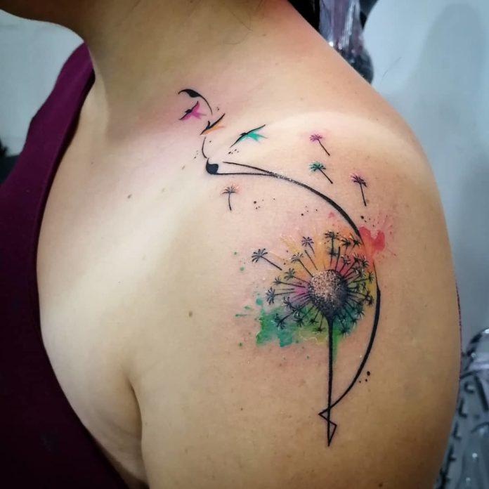 21 16-40 tatouages de pissenlit pour les femmes