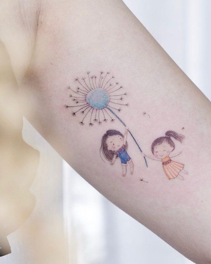 30 tatouages de pissenlit 15-40 pour les femmes