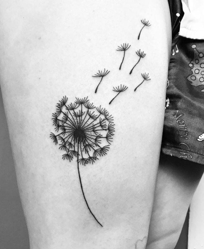 33 17-40 tatouages de pissenlit pour les femmes
