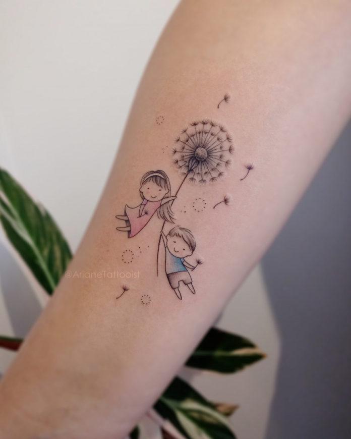 6 16-40 tatouages de pissenlit pour les femmes