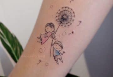 40 tatouages de pissenlit pour les femmes 3