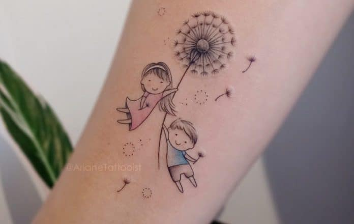 40 tatouages de pissenlit pour les femmes 1