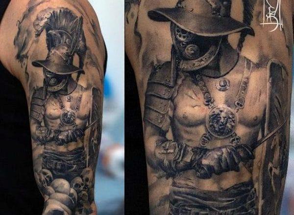 Dessins et idées de tatouage de gladiateur vaillant pour vous - ère des tatouages 1