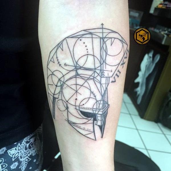 tatouage de gladiateur courageux