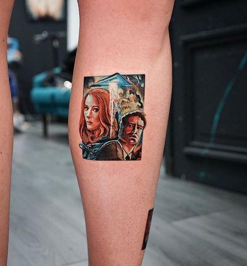 Tatouage de jambe X-Files