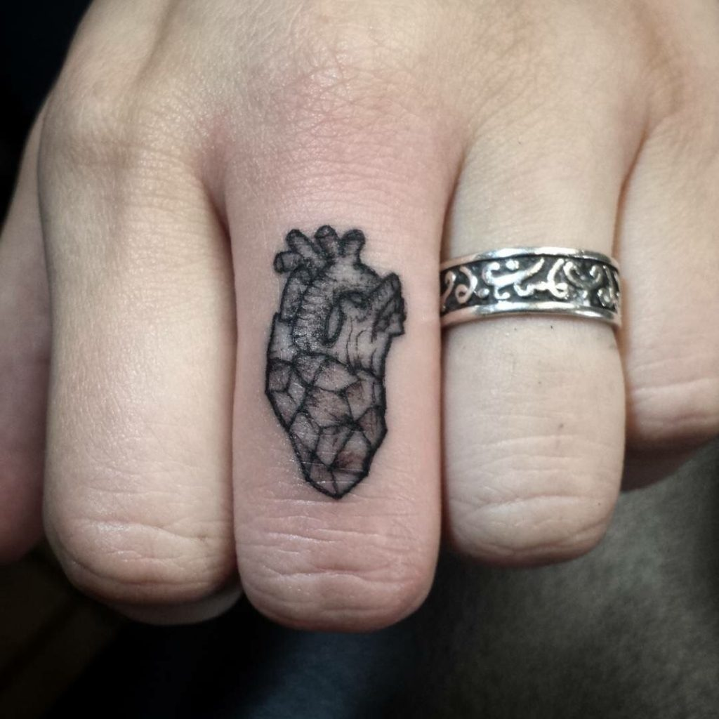 Tatouage Doigt Anatomie Coeur