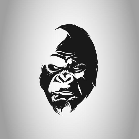 Logo Gorille noir blanc