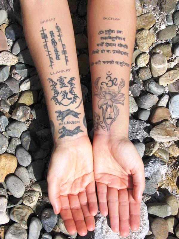 tatouage sanskrit