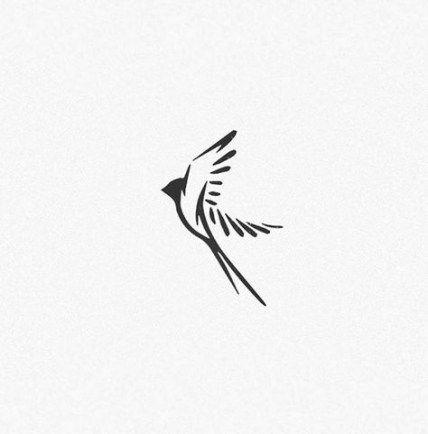 Idées tendance de tatouages de logo d'oiseau d'hirondelle