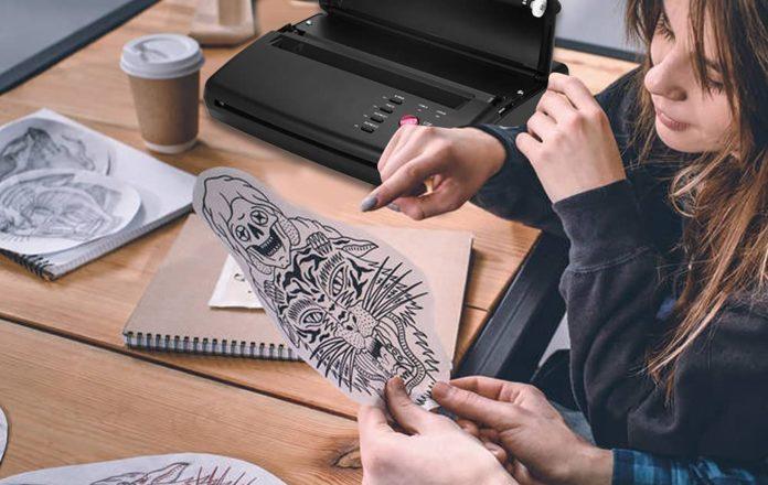 L'imprimante thermique pour transférer les tatouages 1